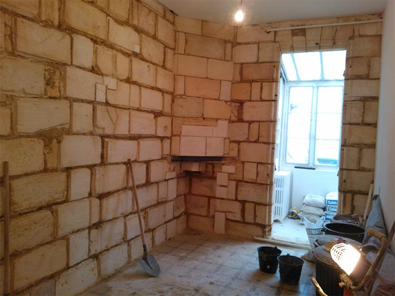 Renovation de mur interieur