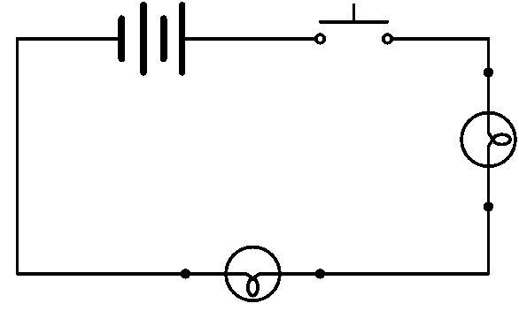 Schéma circuit électrique fermé