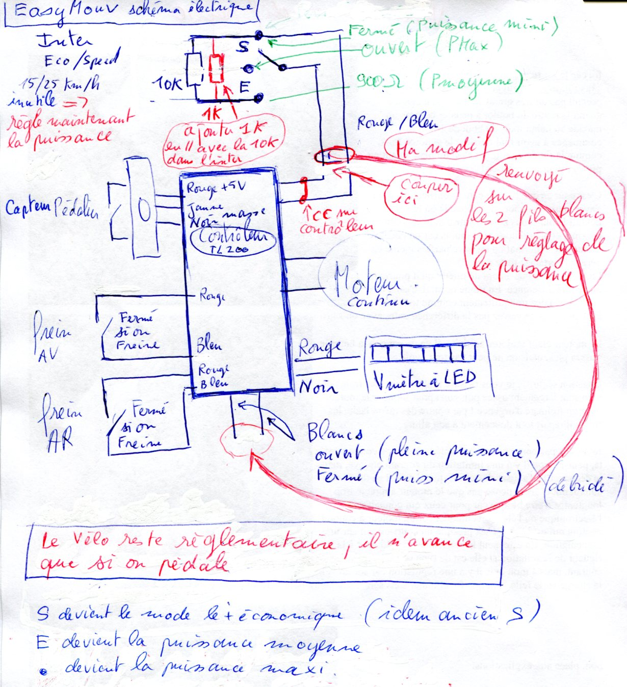 Schema de cablage velo electrique