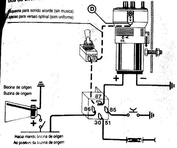 Schema electrique relais klaxon