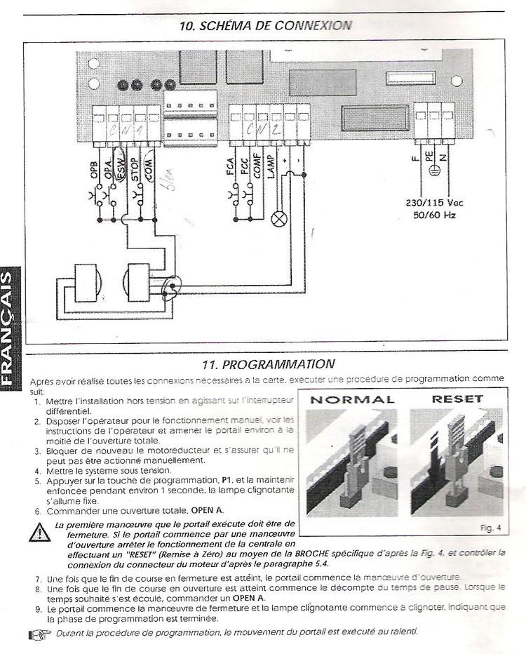 Schema electrique automatisme portail