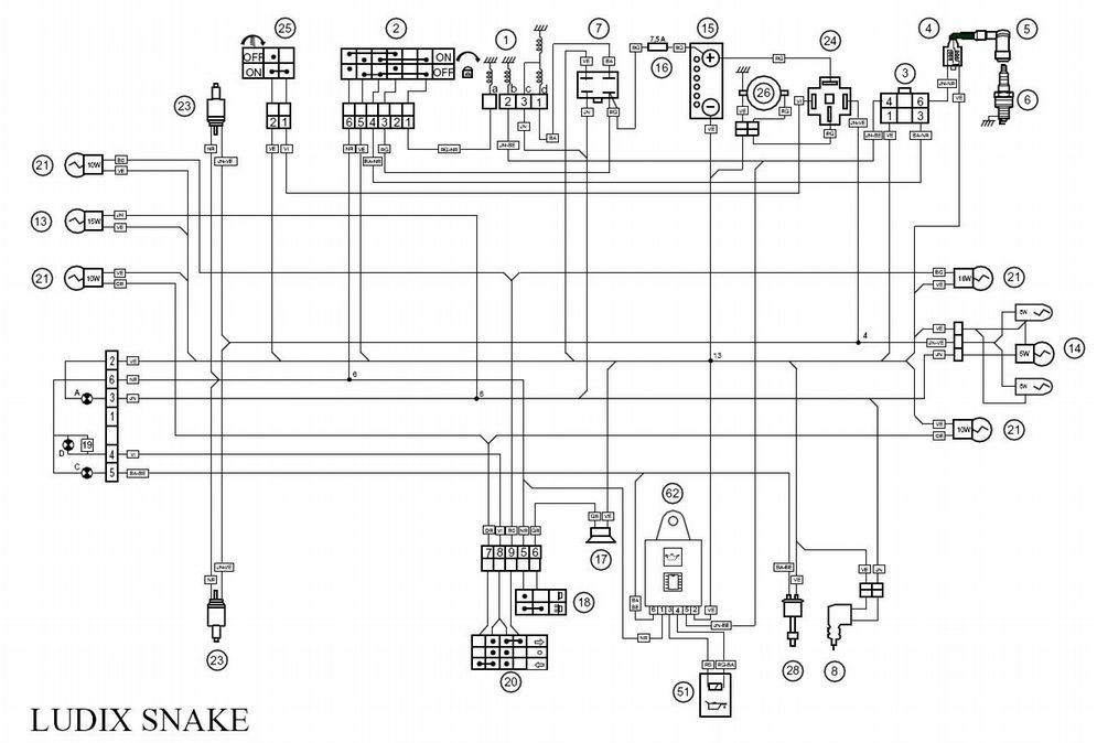 Schema electrique coupe circuit quad