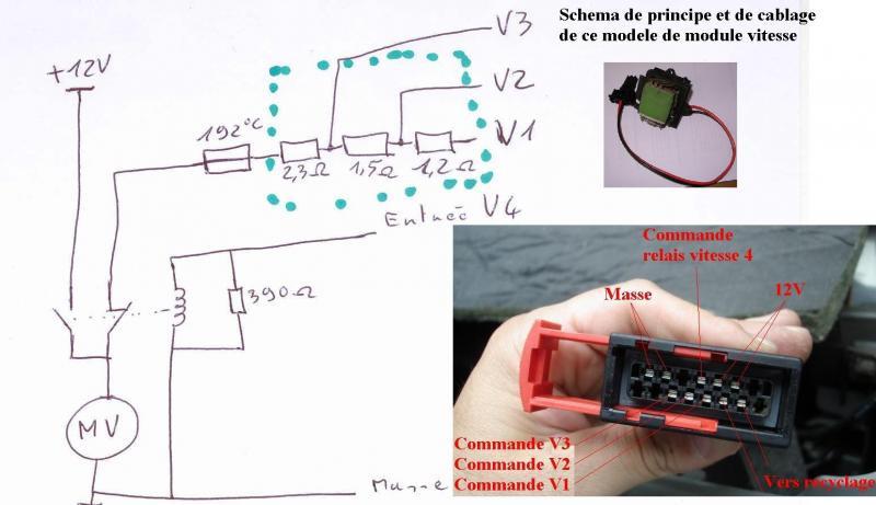 Schema electrique ventilateur clio 1