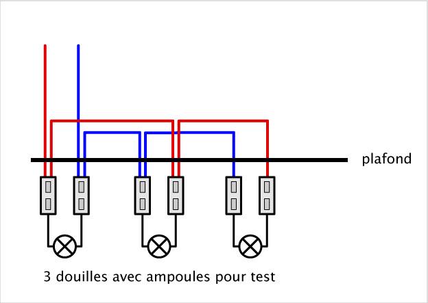 Schema electrique spot en parallèle