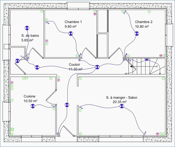 Schema electrique maison 163m2