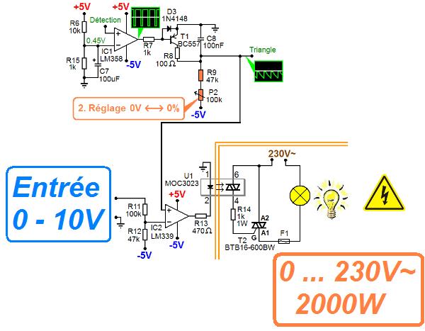 Schéma électrique variateur de lumière