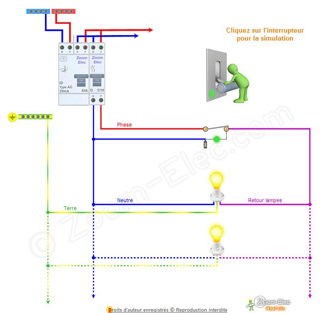 Schema electrique interrupteur a voyant