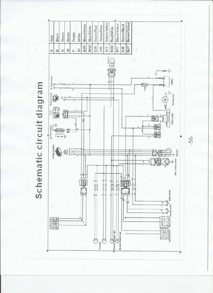 schema electrique quad 200