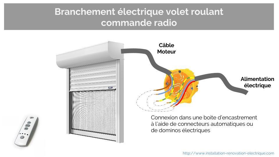 Schema electrique interrupteur pour volet roulant