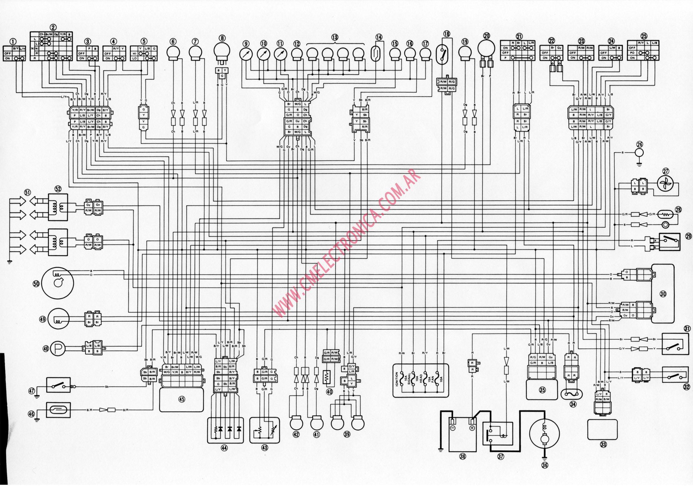 Schema electrique 600 fzr