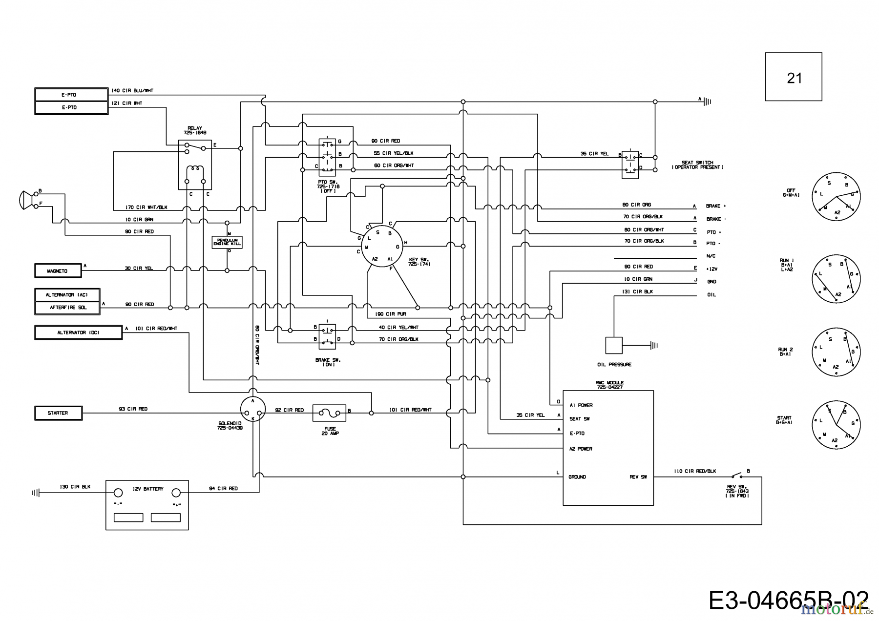 Schema electrique massey ferguson 1080